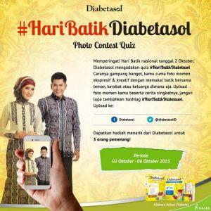 Foto Momen Berbatikmu, Berhadiah Merchandise Menarik Dari Diabetasol