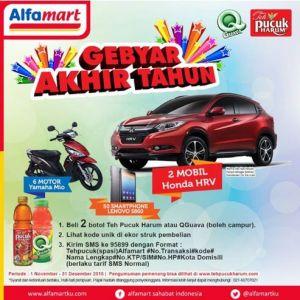 Gebyar Akhir Tahun Teh Pucuk & Q Guava Berhadiah Honda HRV