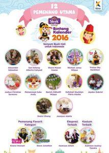12 Pemenang Utama Sleek Bintang Kalender 2015