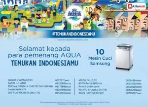 10 Pemenang Aqua - Temukan Indonesiamu (Alfamidi)