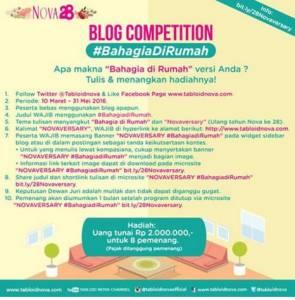 Ikuti Blog Competition #BahagiaDirumah Berhadiah Jutaan Rupiah