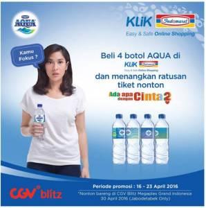 Beli 4 Botol Aqua Di Klik Indomaret Berhadiah 190 Tiket Nonton AADC2