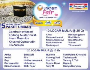 565 Pemenang Unicharm Fair Indomaret