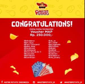 22 Pemenang Mister Potato Unlock Secret Flavor
