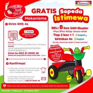 Beli SGM Eksplor 1+ & 3+ Di Indomaret Berhadiah  Sepeda Istimewa