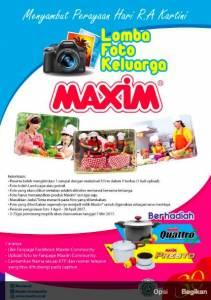 Lomba Foto Keluarga Berhadiah Produk Maxim