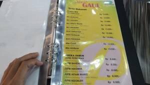 Daftar Harga Mie Pasar Baru Jakarta - Kabayan (Pring Sewu Group) Purwokerto