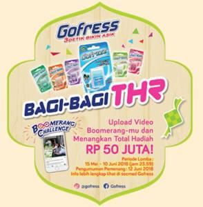 Boomerang Challenge Go Fress Berhadiah Total 50 Juta