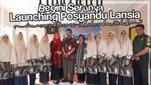 Launching Posyandu Lansia Damar Sejahtera Kelurahan Teluk Purwokerto