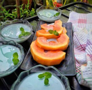 Puding Susu Bunga Telang : Pewarna Alami Yang Menyehatkan, Yuk Kenali Manfaatnya!