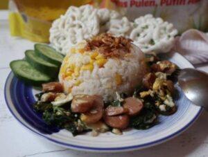 Masak Nasi Jagung Dalam Magic Com, Sikecil Pasti Suka...!!